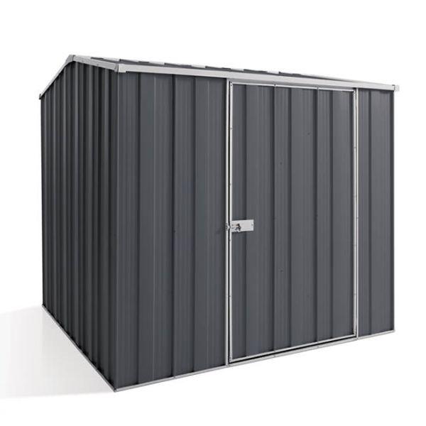 YardSaver G66 Gable Roof 2.1m x 2.1m Single Door Slate Grey